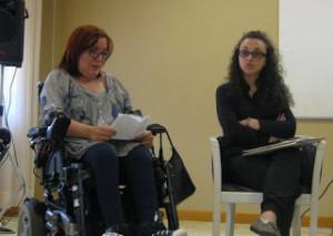 Valentina Boscolo, del Gruppo Donne Uildm, e Cinzia Doria, psicologa di cui ascolteremo l'intervista su Radio FinestrAperta.