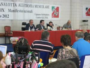 Il Presidente Nazionale Uildm, Alberto Fontana (il secondo sul palco da sinistra) si è complimentato per il nostro lavoro!