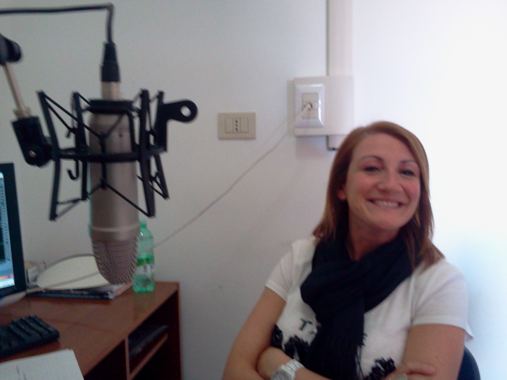 Elisabetta Guido, ospite nei vecchi studi di Radio FinestrAperta (2014)