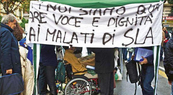 Manifestazione malati di Sla