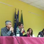 Relatori al convegno sulle barriere architettoniche