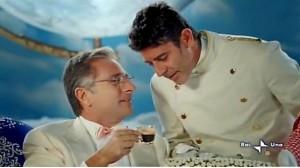 Bonolis e Laurenti in una famosa reclame di caffè