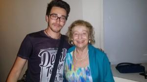 Angelo Andrea Vegliante con la Principessa Elettra Marconi