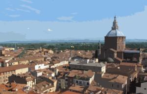 Una veduta di Pavia