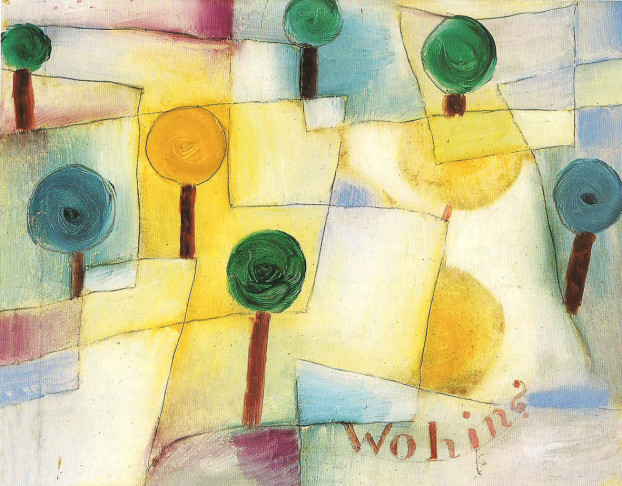 Un paesaggio dipinto da Paul Klee