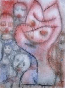 In questo dipinto di Klee uno dei suoi soggetti preferiti, gli animali