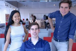La squadra di Aipoly: da sinistra, Marita Cheng, Simon Edwardsson e Alberto Rizzoli