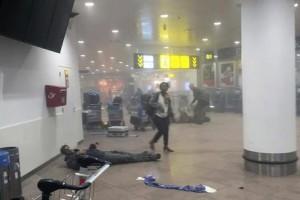 La strage all'aeroporto di Bruxelles (fonte: Ansa)