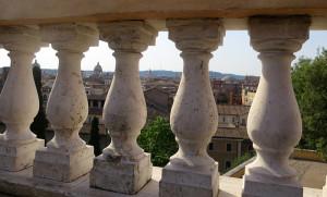 Il panorama dalla terrazza dei Musei Capitolini