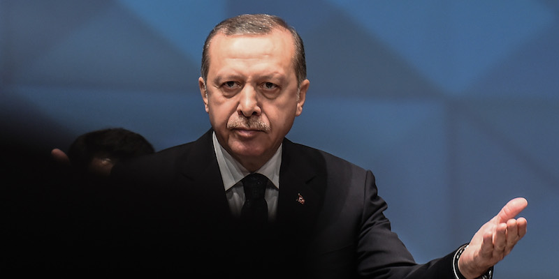 Il presidente turco Recep Tayyip Erdoğan (fonte: Il Post)