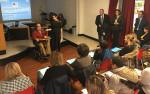 Marcello Tomassetti e Maria Elena Lombardo introducono l'incontro sulla disfagia