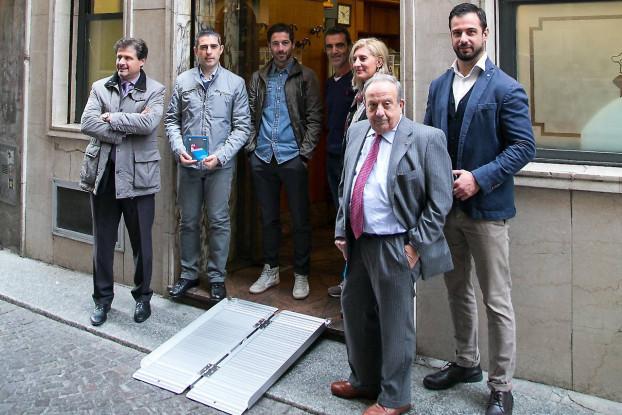 La presentazione de Via il Gradino a Parma (foto dal sito di Confesercenti Parma)