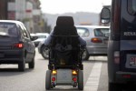 Multato per eccesso di velocità, in sedia a rotelle.