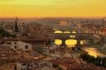 Panorama toscano al tramonto