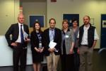 Da sinistra: A. Gonnella (membro GFB), L. Rodino Klapac (collaboratrice dott. Mendell), J. Mendell, B. Vola (presidente GFB), P. Bonetti (commissione medico-scientifica GFB), M. Perlini (vicepresidente GFB)