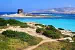 Il panorama dalla Sardegna