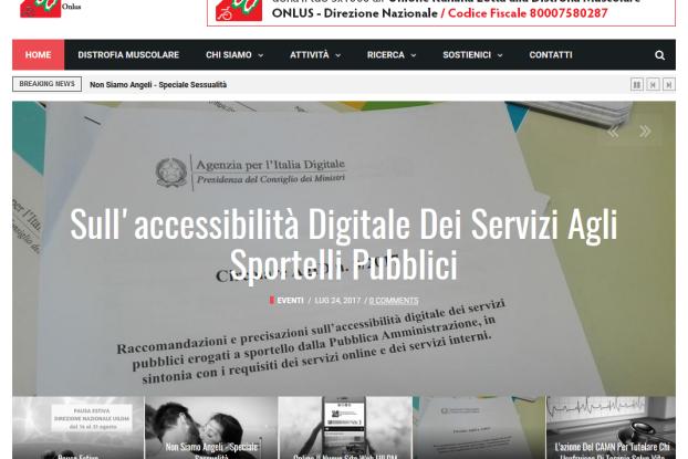 L'homepage di Uildm.org