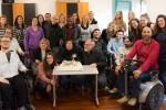Foto di gruppo con gli ex volontari in Servizio Civile