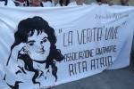 Uno striscione dell'Associazione Antimafia Rita Atria (fonte: MalgradotuttoBlog)
