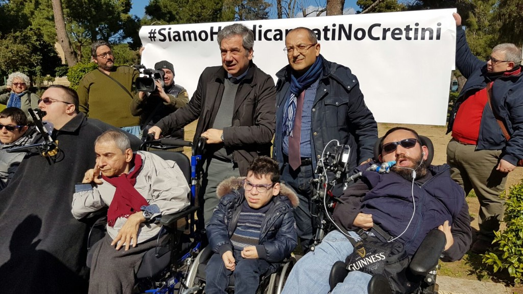 disabilità in piazza