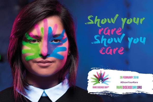 Materiale promozionale per la Giornata Mondiale delle Malatie Rare