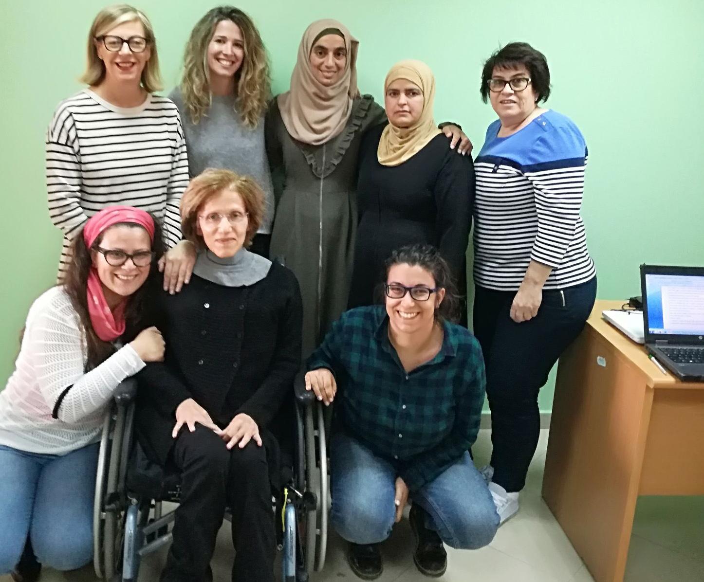 Il team che ha lavorato ai progetti in Palestina