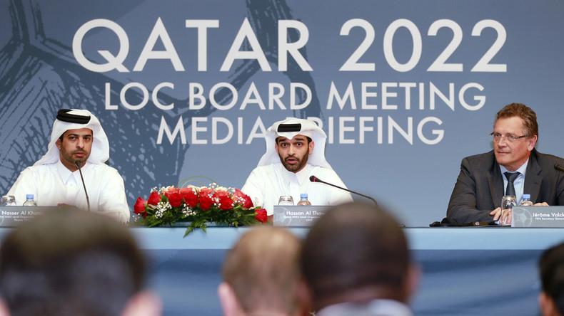 Gli organizzatori della Coppa del Mondo 2022 in conferenza stampa