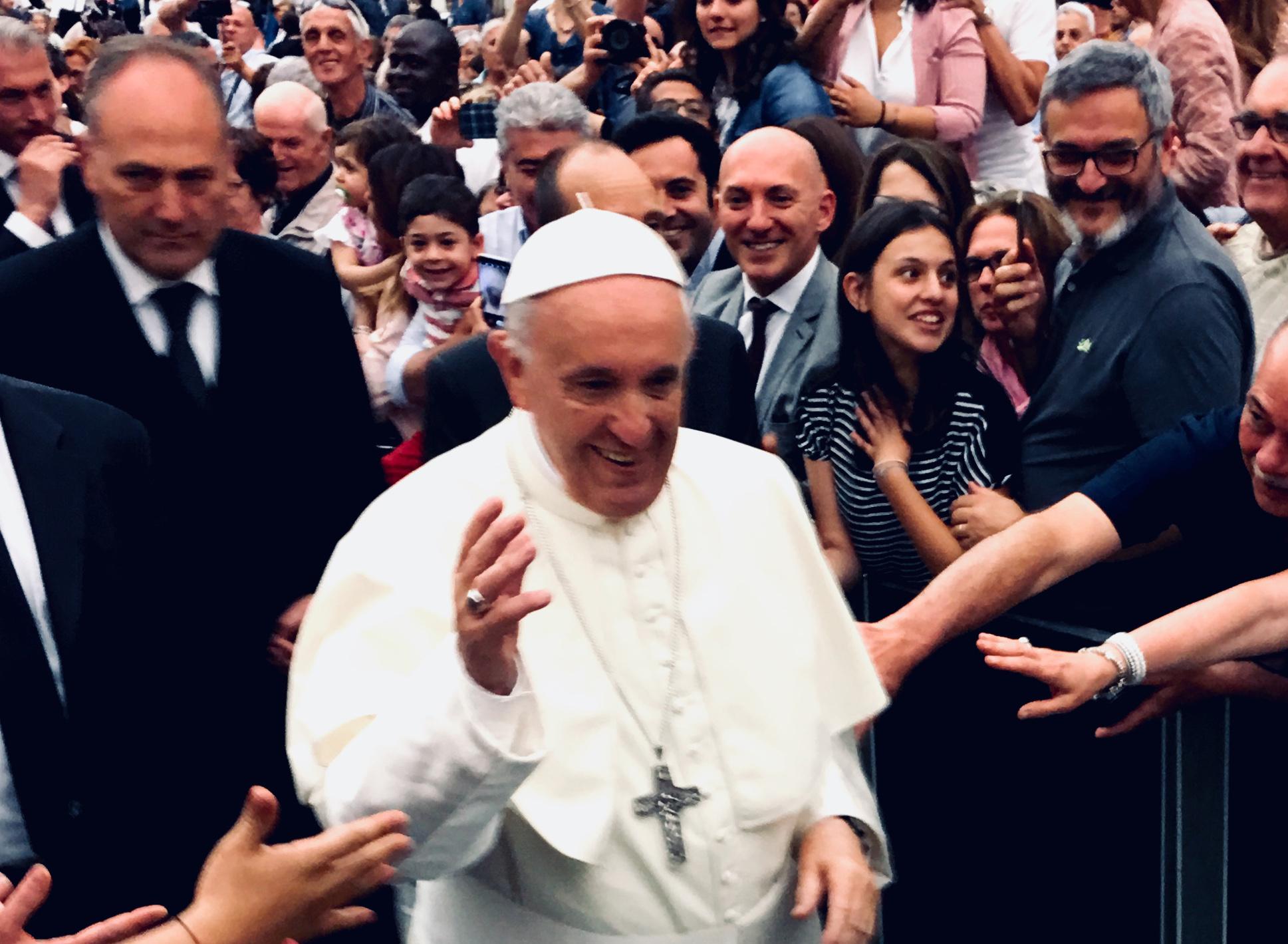 Papa Francesco incontra la UILDM (foto di Angelo Andrea Vegliante)