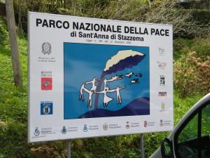 L'ingresso del Parco Nazionale della Pace