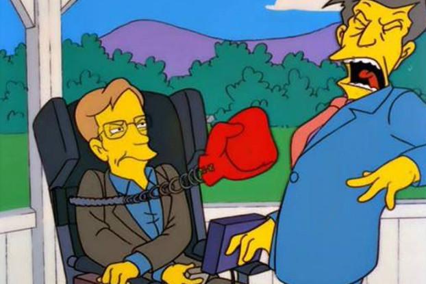 Persino I Simpson hanno avuto Hawking come ospite