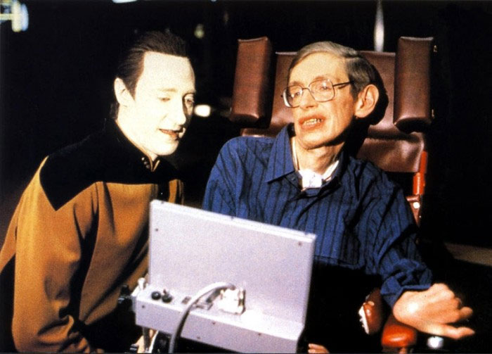 Stephen Hawking sul set di Star Trek