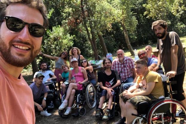 Una escursione del Gruppo Giovani della UILDM LAZIO onlus