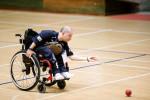Un giocatore di Boccia Paralimpica