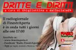 Dritte e Diritti: torna il radiogionale di FinestrAperta, a cura di Ghigliottina e dalSociale24