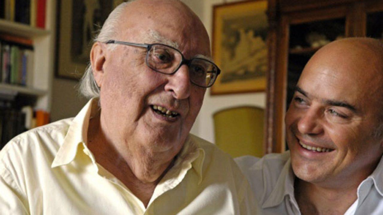 Andrea Camilleri con l'attore Luca Zingaretti