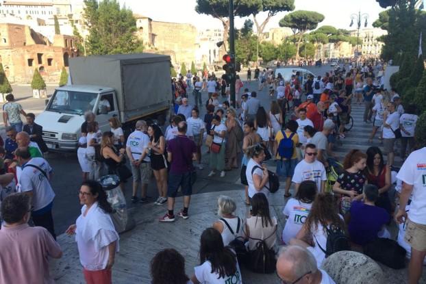 Un momento del Disability Pride a Roma