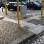 Percorso sensoriale dell'incrocio Via Colombo e Viale Città Del Lavoro