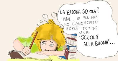 vignetta di Scrivo Suibanchi (pseudonimo di una insegnante di sostegno precaria)