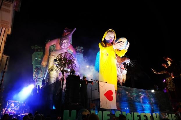 Uno dei carri del Carnevale di Viareggio