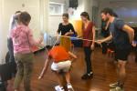 Vito (a destra) durante un'attività di formazione insieme ai suoi colleghi