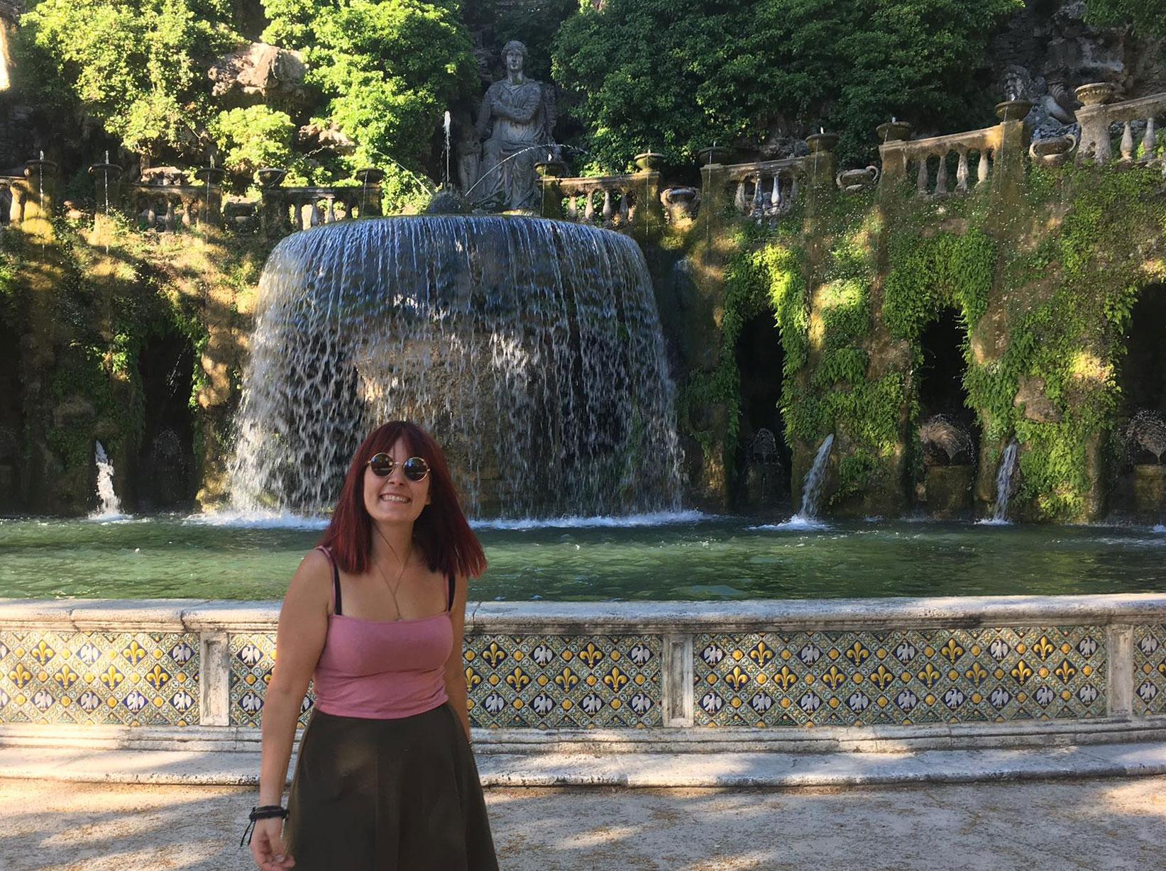Nei giardini di Villa d'Este