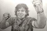 Diego Armando Maradona disegno di (Lucia Romani)