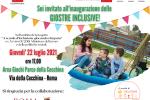 L'invito all'inaugurazione delle giostre accessibili al Parco della Cecchina